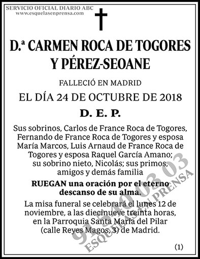 Carmen Roca de Togores y Pérez-Seoane